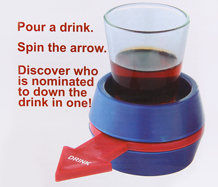 Creative Shot Spinner Rotatable Arrows Wine Beer Glass Set Party Bar Game Props
