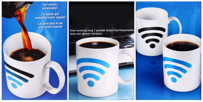 Magical Color Changing Temperature Control Mug WiFi Signal Pattern Coffee Cup