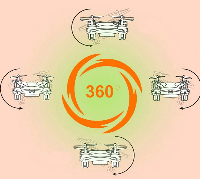 Cheerson CX - 10 Nano Quadcopter 4 Channel 6 Axis Gyro 2.4G RC Quadcopter with Hovering Function