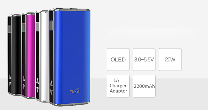 Authentic Eleaf iStick 20W VV / VW 2200mAh Electronic Cigarette Mod with OLED Display ( 510 / EGO Thread )