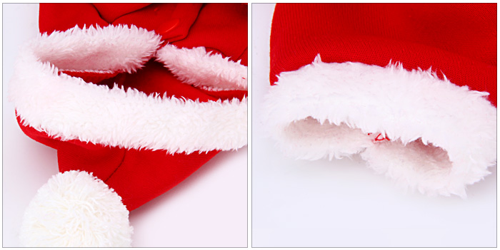 Pet Clothes Dog Christmas Clothes with Hat for M Size (Red)