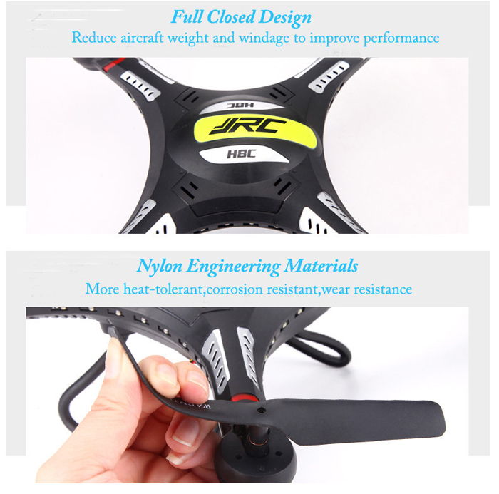 JJRC H8C 2.4GHz Quadcopter 6 Axis Gyro 4 Channel 360 Dgree Eversion UFO Explorer with 2.0MP HD Camera LED Light Great Gift