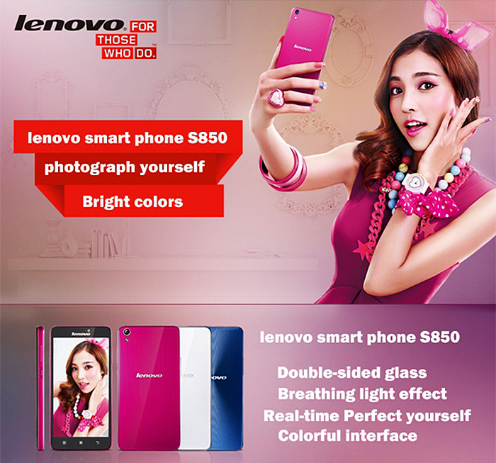 5.0 inch Lenovo S850 Android 4.4 WCDMA Phablet MTK6582 Quad Core 1.3GHz HD IPS Screen GPS Bluetooth 16GB ROM