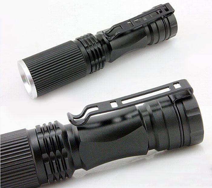 508 Portable Cree Q5 300Lm 3-Modes LED Adjustable Focus Water-resistant AA Torch