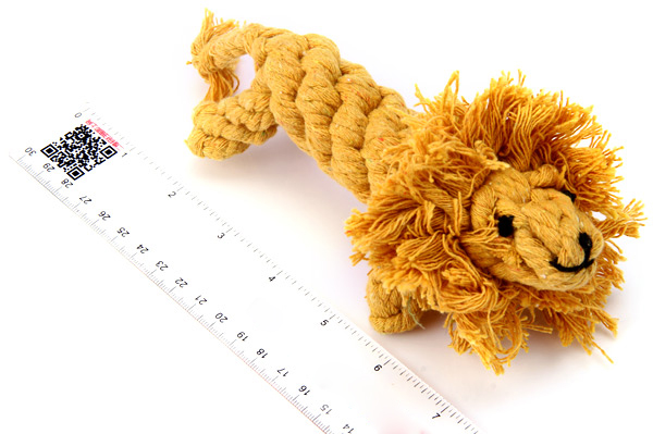 Fashionable 16cm Pets Teeth Grinding Tool Cotton Rope Knitted Lionet Dogs Cats Supplies