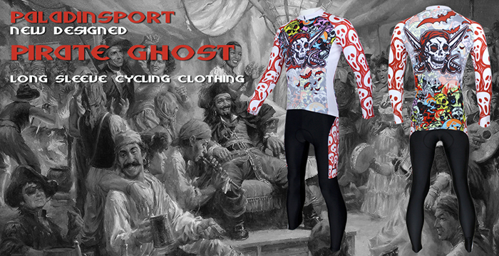 Colorful Skeleton Pattern Cycling Suit Long Sleeve Jersey Pants Set Bike Bicycle Racing Clothes for Men