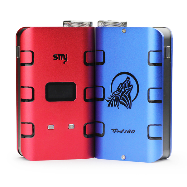 SMY GOD180 Variable Power / Voltage Aluminium Electronic Cigarette Mod with LED Digital Display by 3 x 18650 Battery
