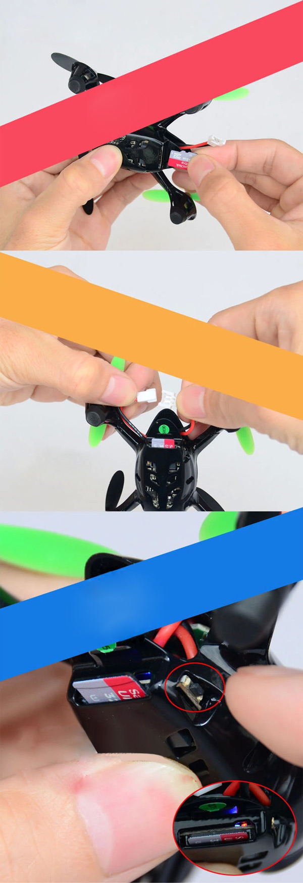 Hubsan x4 H107C Portable 4CH 6-Axis Gyro RC Quadcopter with 0.3MP HD Camera
