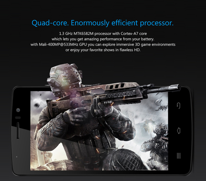 4.7 inch THL 4000 Android 4.4 3G Phablet with MTK6582M 1.3GHz Quad Core 1GB RAM 8GB ROM WiFi GPS Bluetooth qHD IPS Screen