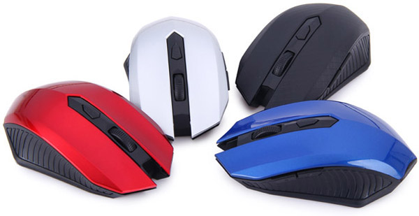 JITE5001 Ultra Mini Practical 2.4GHz 6 Keys Wireless Optical Mouse Mice for Home Office