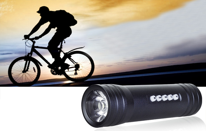 Pindo S2F Multi-function Flashlight Bicycle Speaker Bike MP3 Music Player FM Radio with TF Slot 3.5mm Jack for Mobile Phone