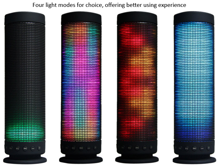 Creative MIC Wireless Bluetooth 4.0 Fantasy Color LED Light Speaker Speakerphone with Hands-free Calls for iPhone 6 6 Plus 5S 5C 5 4S 4 Desktop Laptop