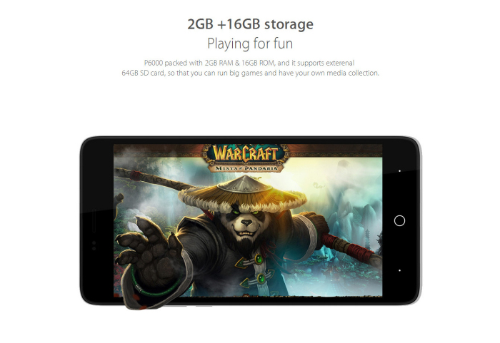 5.0 inch Elephone P6000 Android 5.0 4G LTE Smartphone with 64bit MTK6732 1.5GHz Quad Core 2GB RAM 16GB ROM GPS HD IPS Screen