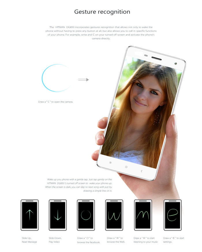 5.0 inch DOOGEE DG850 Android 4.4 3G Smartphone with MTK6582 1.3GHz Quad Core 1GB RAM 16GB ROM WiFi GPS HD Screen