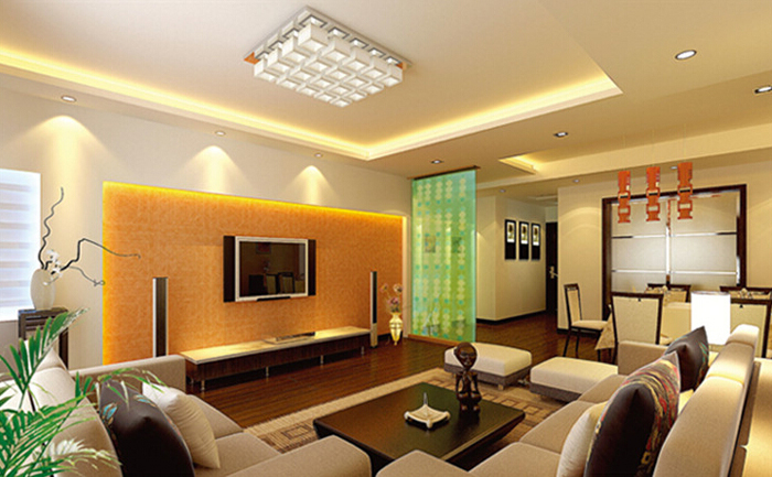 4 PCS of Zweihnder 5W 480Lm 24 x SMD 3528 LEDs 6000 - 6500K Ceiling Light with Gold Housing