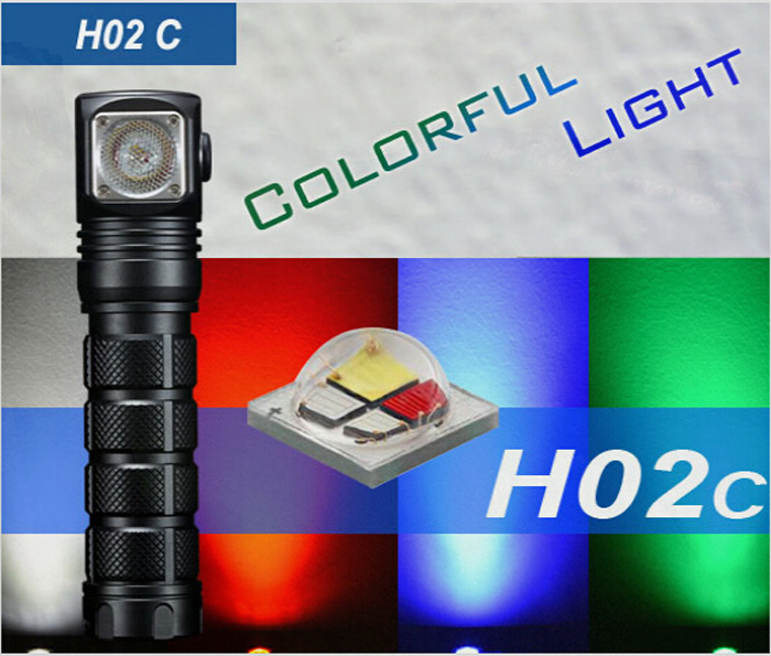 Skilhunt H02C CREE XML Color 260LM 7 Modes 18650 Waterproof Headlamp