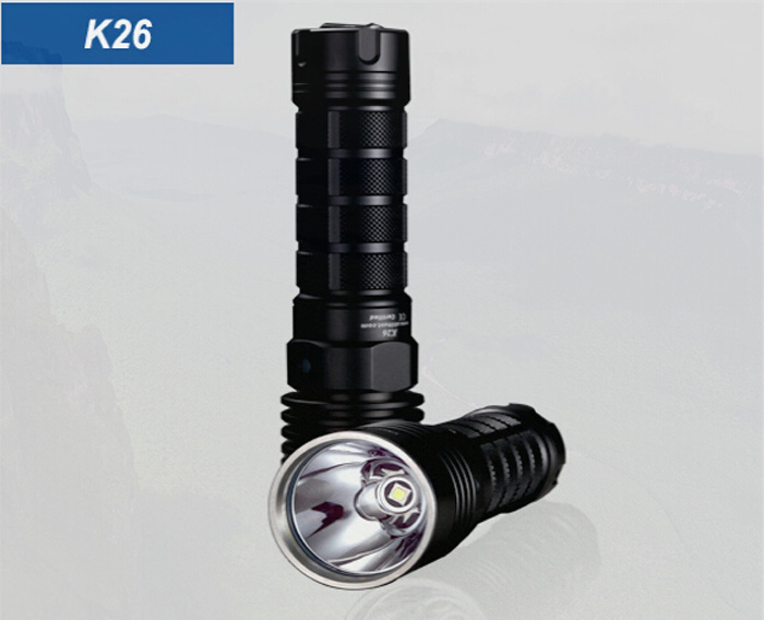 Skilhunt K26 1000Lm CREE XM L2 5 Modes Waterproof Rechargeable LED Torch ( 1 x 26650 Battery )