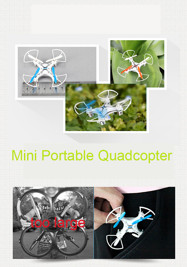 JJRC JJ - 810 Mini 2.4GHz 6 - Axis Gyro 4 Channel RC Quadcopter Aircraft with LED
