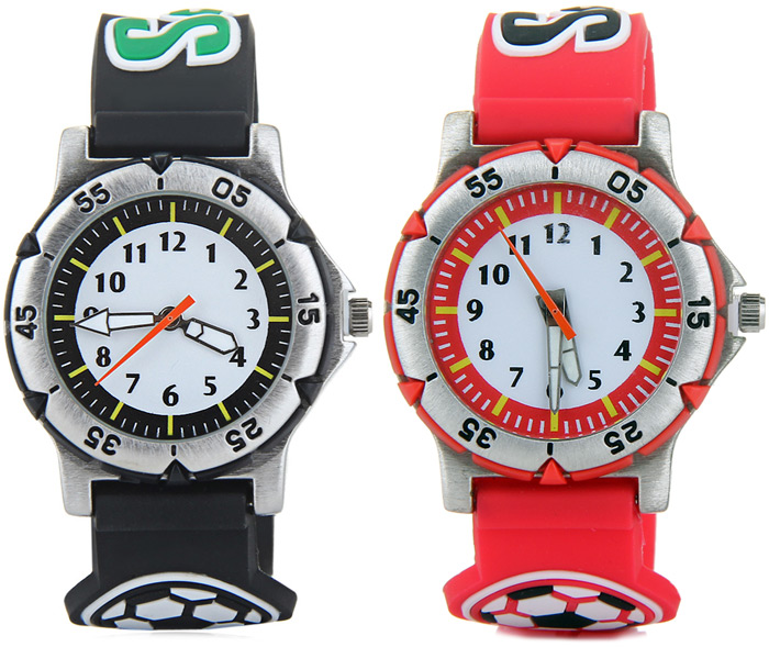 Quartz Watch 3D Football Watch Band for Children