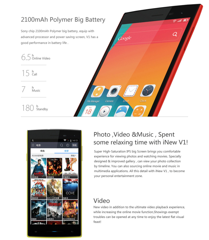 Best Cell Phone Deals- 5.0 Inch INew V1 Android 4.4 3G