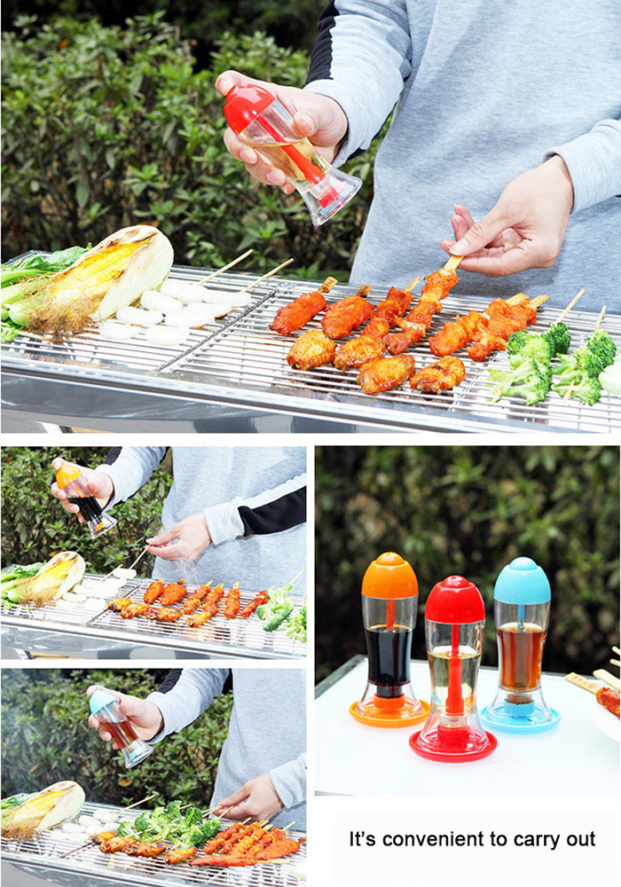 Outdoor Barbecue Spraying Type Oil Bottle Vinegar and Soy Sauce Bottle Leakproof Oiler Kitchen Storage
