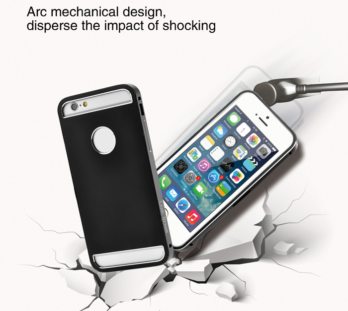 Link Dream Stylish Aluminium Alloy Back Cover Case of Hollow Back Design for iPhone 6 Plus - 5.5 inches