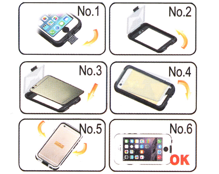 Link Dream Inclosed TPE and PC Material Waterproof Cover Case for iPhone 6 Plus - 5.5 inches