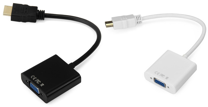 HDV102 HDMI Male to VGA Female Video Adapter Cable with Audio Cable for PC