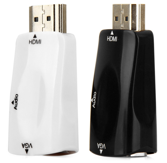 HDV104 HDMI Male to VGA Female Video Adapter with Audio Cable for PC TV