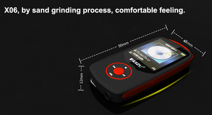 RUIZU X06 Bluetooth HIFI 4G MP3 Player with 1.8 inch TFT Screen FM Function Earphone Support 64GB TF Card for Music