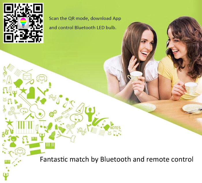 L101 Electronic E27 3000-6000K Wireless LED Ball Bulb with App Control Bluetooth 4.0 Speaker