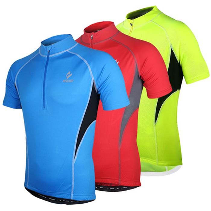 Arsuxeo 665 Quick-dry Cycling Jersey Sweatshirt Bike Bicycle Racing Running Short Sleeve Clothes
