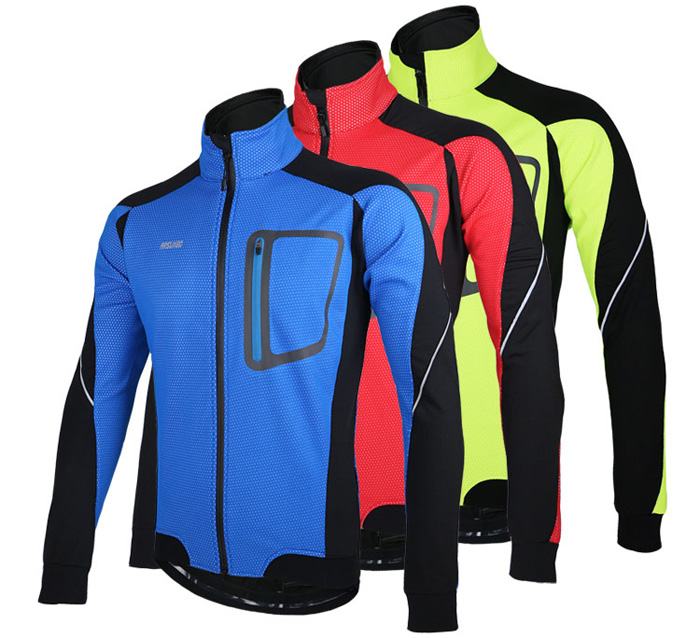 Arsuxeo 14D Water Resistant Cycling Wind Coat Jacket Bike Bicycle Racing Running Long Sleeve Clothes