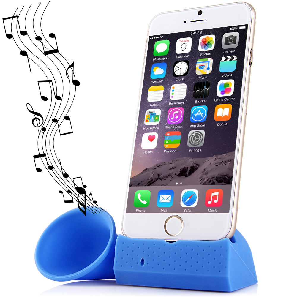 Practical Silicone Mobile Phone Horn Stand Holder for iPhone 6 5 5S 5C 4 4S