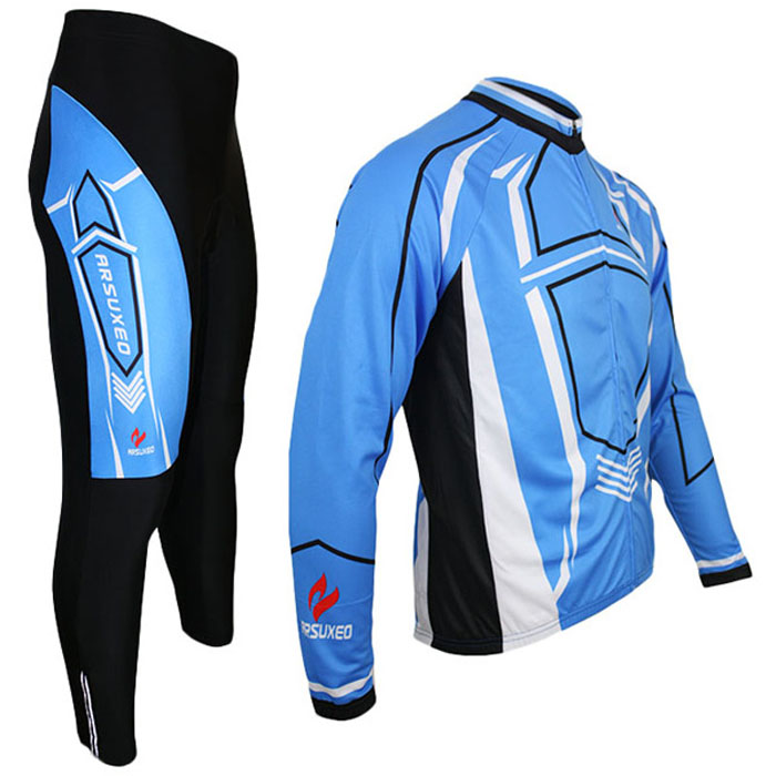 Arsuxeo C03 Cycling Suits Jersey Jacket Pants Set Bike Bicycle Running Long Sleeve Clothes for Male