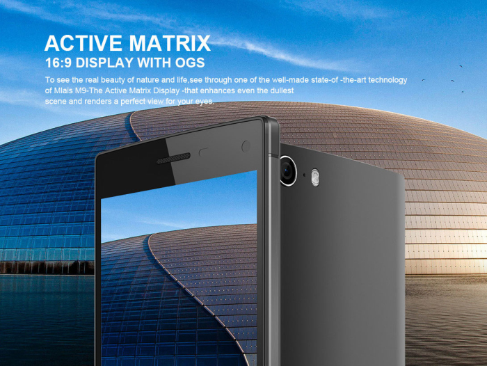 5.0 inch Mlais M9 Android 4.4 3G Smartphone MTK6592M 1.4GHz Octa Core 1GB RAM 8GB ROM QHD IPS Screen GPS