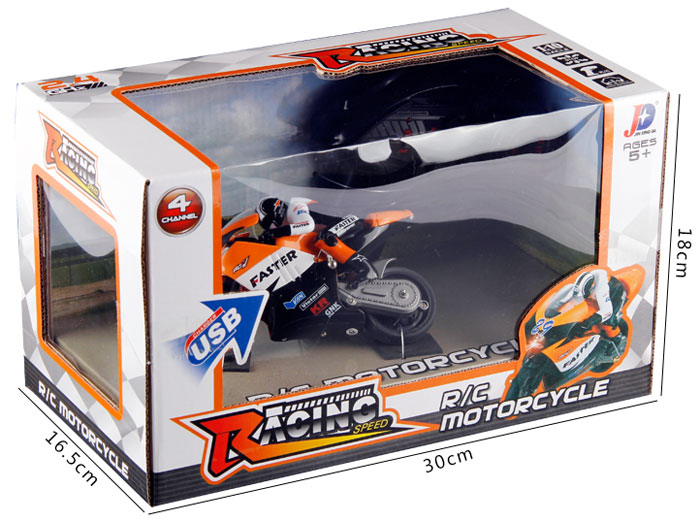 JXD 806 1 / 16 Scale 2.4G Remote Radio Control Motorcycle with Inertia Wheel Device and Realistic Shock Absorber