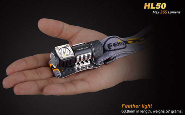 Fenix HL50 Cree XM L2 T6 365Lm 4 Modes Water-resistant AA LED Headlight for Outdoor Activities