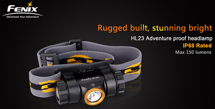 Fenix HL23 Cree XP G2 R5 150Lm 3 Modes Water-resistant AA LED Headlight for Outdoor Activities