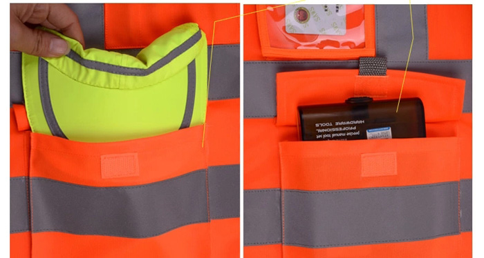 SFvest Traffic Guidance Reflective Vest Waistcoat Warning Safety Sanitation Worker Clothes