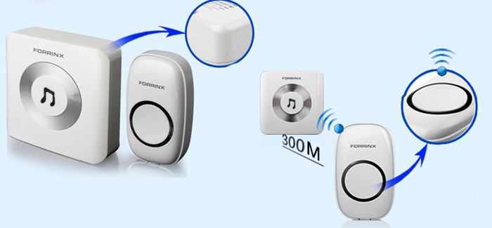 Forrinx B 300m Wireless Doorbell Chime With 52 Ringtones 4