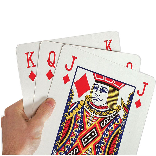 Creative Giant Poker Playing Cards ( A Deck ) for Carnival and April Fools' Day