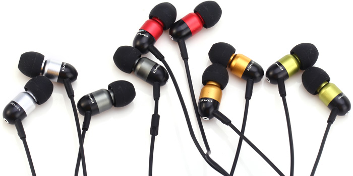 Awei ESQ8i Super Bass In-ear Earphone with 1.2m Cable Mic for Smartphone Tablet PC