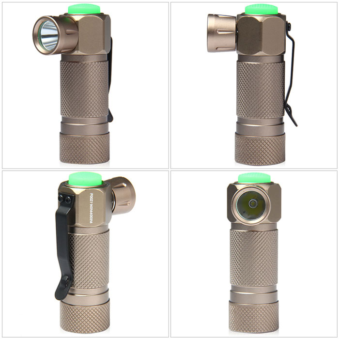 TrustFire Z1 Cree R2 Water Resistant Turn Angle LED Flashlight ( 300Lm 3 Modes 1 x CR123A Battery )