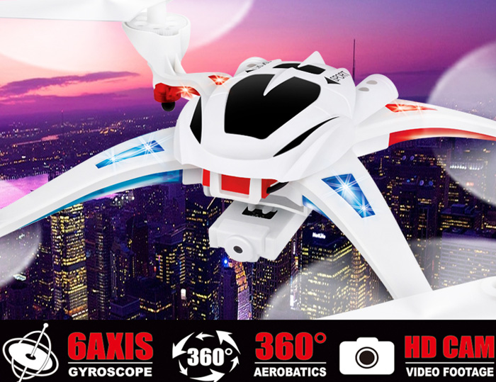 NIHUI TOYS U807 Magnetic Compass Headless Mode 6 Axis 2.4G 4CH RC Quadcopter 360 Degree Stumbling UFO with 2.0MP HD Camera