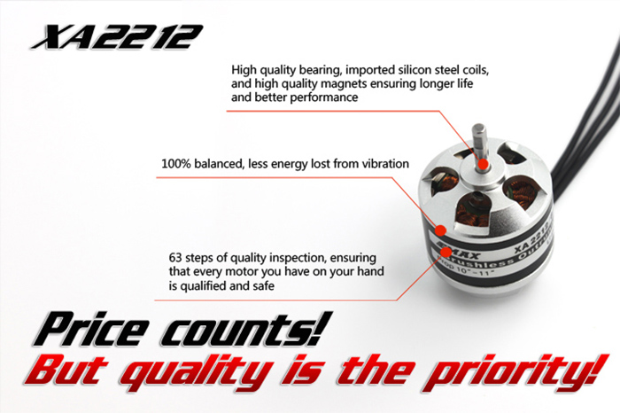 EMAX XA Series XA2212 Brushless No - Brush Outrunner Motor Set with Accessories