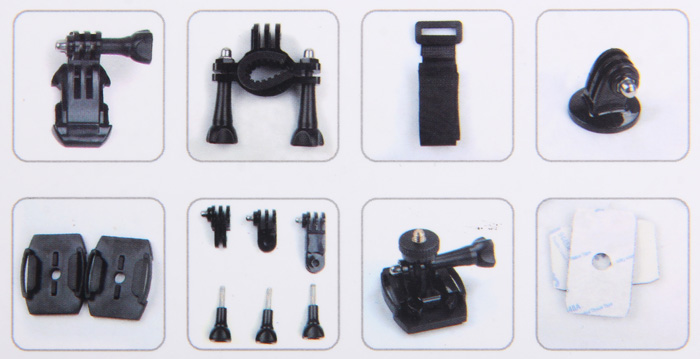 SJCAM Action Camera Accessories with Holder Base Band Double-side Tape
