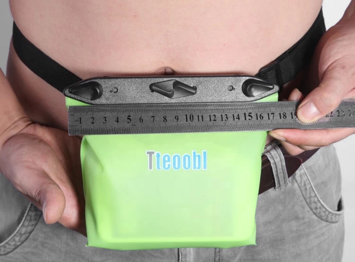Tteoobl T020B 20m Water Resistant Waist Bag Phone Cash Pack for Cycling Hiking Diving Drift