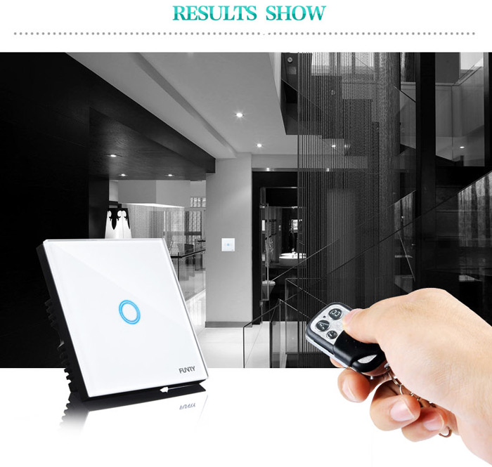 FUNRY Touch Remote Switch 1 Gang Smart Control On-off for Home Supplies - EU Standard