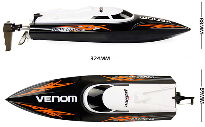 UDI 001 Tempo Power Venom 2.4G RC Boat with Auto Rectifying Deviation Direction Function